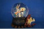Bugs Bunny and Taz Water Globe