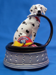 Dalmation with Fire Hose Musical Figurine