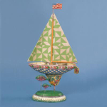 Jim Shore Seaside Green Boat Figurine