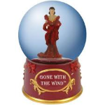Gone with the Wind Scarlet in Red Dress Water Globe
