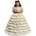 Gone with the Wind Scarlet in White Dress Figurine