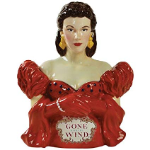 Gone with the Wind Scarlet in Red Dress Cookie Jar