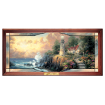"Thomas Kinkade ""Light of Peace"" Stained Glass Picture"