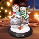 Thomas Kinkade, Snow Merry and Bright Snowman Couple