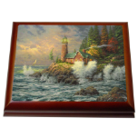 "Thomas Kinkade's Enchanting ""Courage"" Music Box"