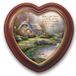 "Thomas Kinkade ""Home Sweet Home"" Canvas Framed Wall Hanging"