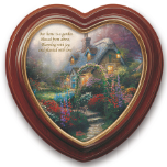 "Thomas Kinkade ""The Blossoms of Home"" Framed Canvas Wall Hanging"