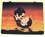 Gone With The Wind Sunset Red Rectangular Handbag