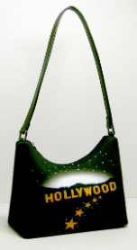 Hollywood Print Handbag Hobo