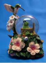 Hummingbird Nest Mini Water Globe