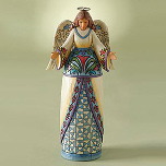 Jim Shore Blue Angel Figurine