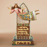 Jim Shore Joyful Angel Psalm Figurine