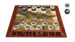 John Wayne Wood Checkerboard with Wood Checkers