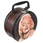 Marilyn Monroe Collectible Round Tin Tote