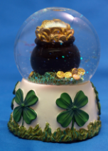 Luck of the Irish Musical Water Globe