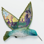 Sunday Afternoon Hummingbird Porcelain Wall Plaque