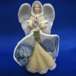 "Thomas Kinkade ""Angel of Faith"" Porcelain Figurine"