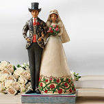 JIm Shore Bride And Groom Figurine